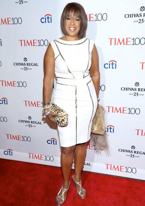Gayle King at TIME 100 Gala Red Carpet look in 2015