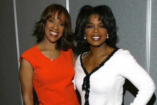 Gayle King with her friend Oprah Winfrey