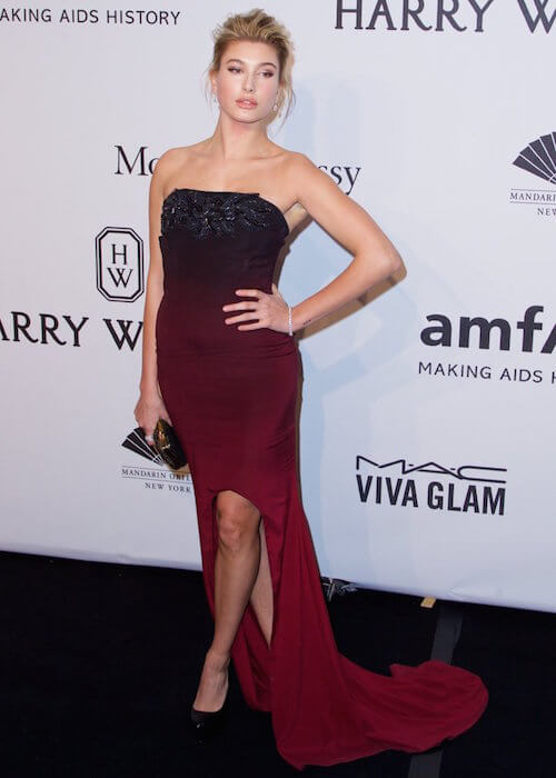 Hailey Baldwin at 2015 Amfar New York Gala