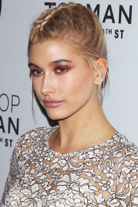 Hailey Baldwin's braided hairstyle of 2015