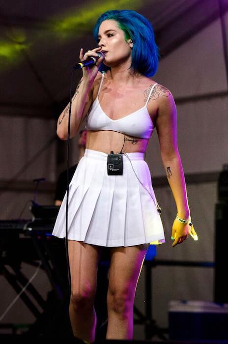 Halsey at Shaky Knees Festival in May 2015