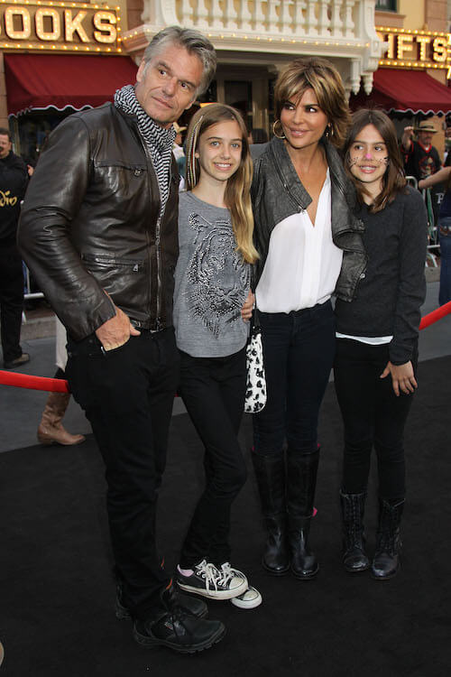 "Harry Hamlin, Lisa Rinna and their 2 daughters at the world premiere of ""Pirates of the Caribbean"""