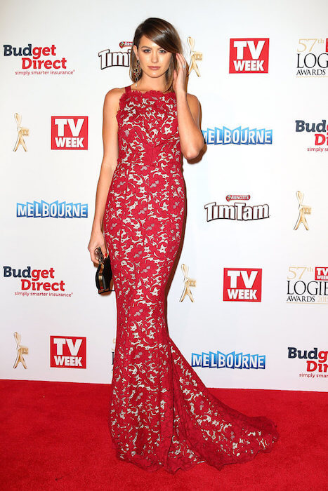 Jesinta Campbell during Logie Awards 2015
