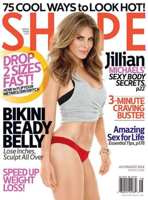 Jillian Michaels on the cover of Shape Magazine July / August 2014 Issue