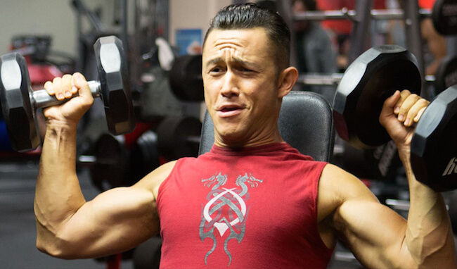 Joseph Gordon-Levitt training for the 2013 film Don Jon