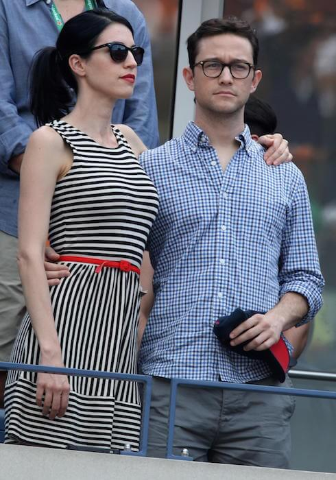 Joseph Gordon-Levitt with wife Tasha McCauley at the 2014 U.S. Open