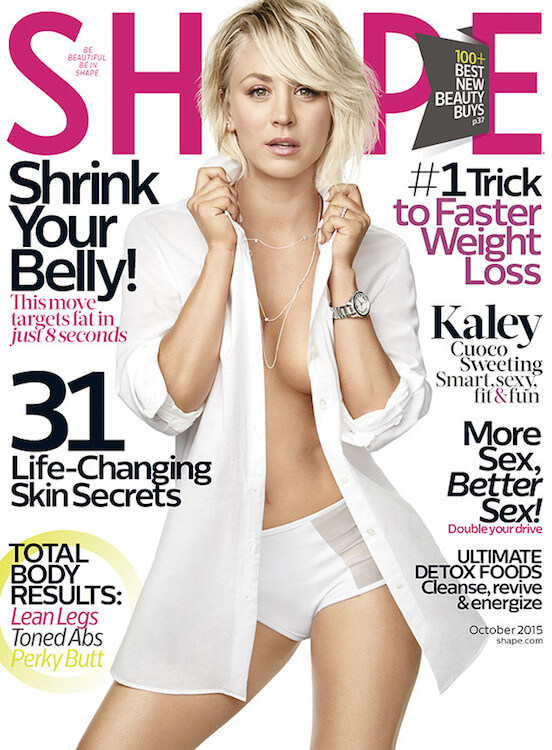 Kaley Cuoco at the Shape Magazine Cover - October 2015 Issue