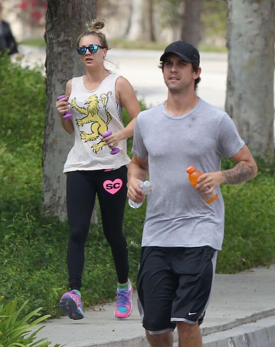 Kaley Cuoco and Ryan Sweeting at a park in Los Angeles
