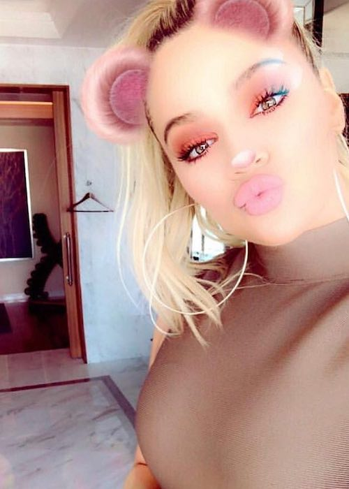 Khloe Kardashian in a February 2018 selfie