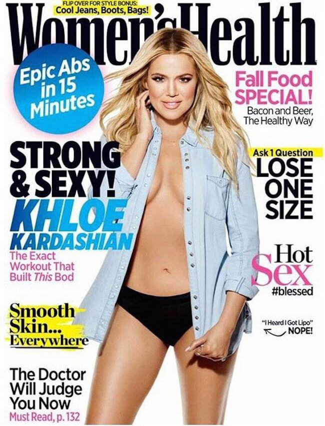 Khloe Kardashian graces Women's Health September 2015 Cover.