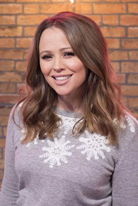 "Kimberley Walsh was in ""This Morning"" in December 2014."