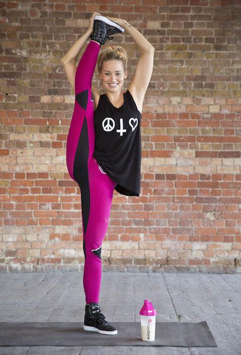 Kimberly Wyatt showing her flexible body