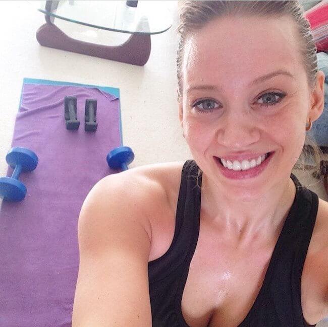 Kimberly Wyatt workout selfie