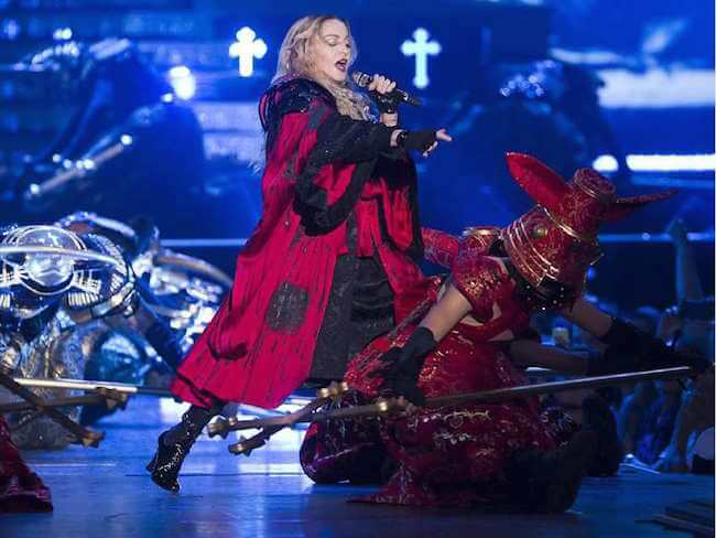 Madonna performing in Montreal on September 9, 2015 during Rebel Heart Tour
