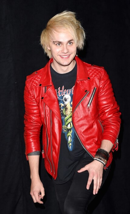 Michael Clifford in blonde hair