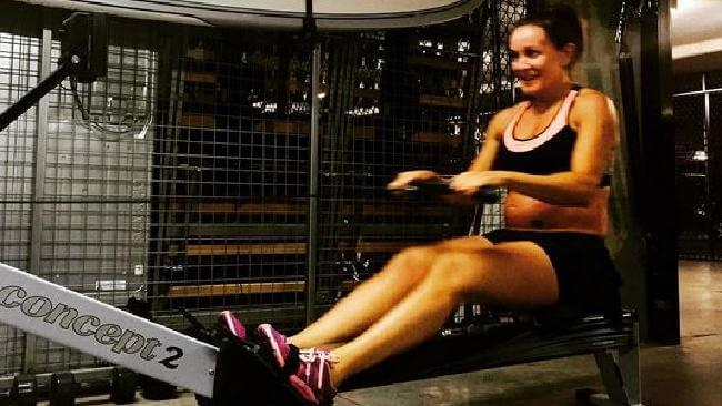 Michelle Bridges doing Garage Workout