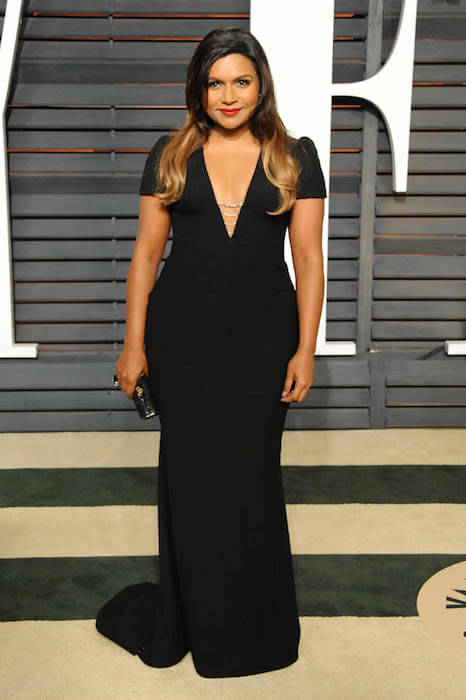 Mindy Kaling during the 2015 Vanity Fair Oscar Party