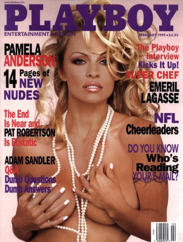 Pamela Anderson on the Playboy magazine's February 1999 Issue