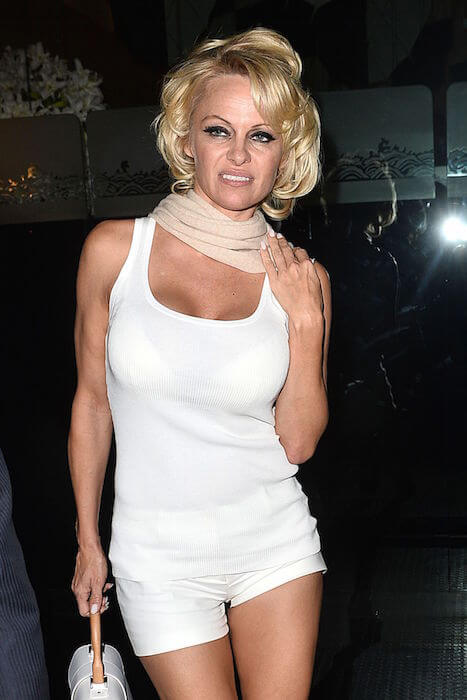 Pamela Anderson at Mr. Chow in Los Angeles in January 2015