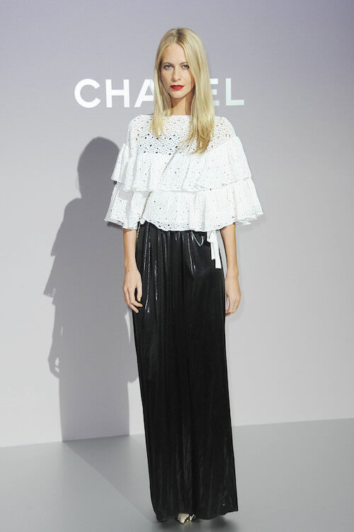 Poppy Delevingne's best look of 2012 while promoting Chanel