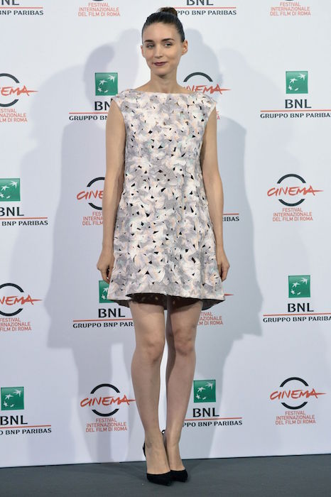 Rooney Mara at Trash photocall during the 9th Rome Film Festival