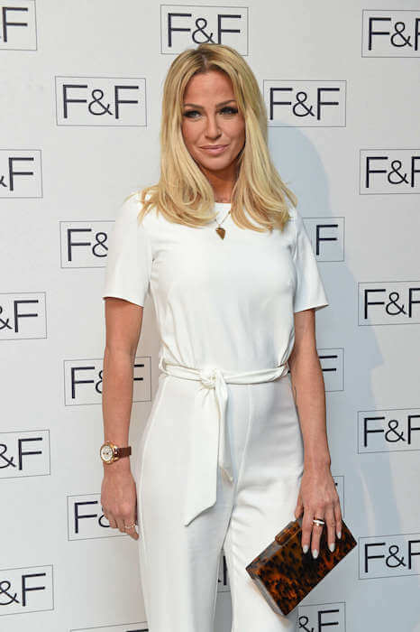 Sarah Harding at F&F AW15 Salon Show in London