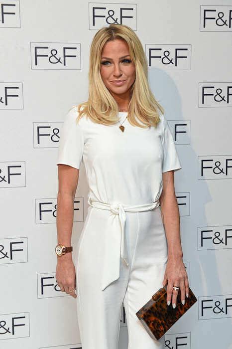 Sarah Harding at F&F AW15 Salon Show in London