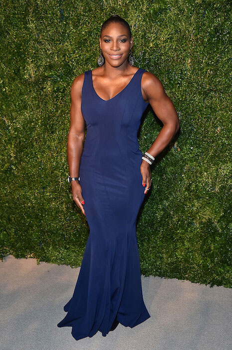 Serena Williams in a blue gown