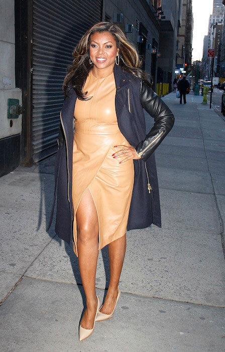Taraji P. Henson arrives at 'The Wendy Williams Show' in January 2015