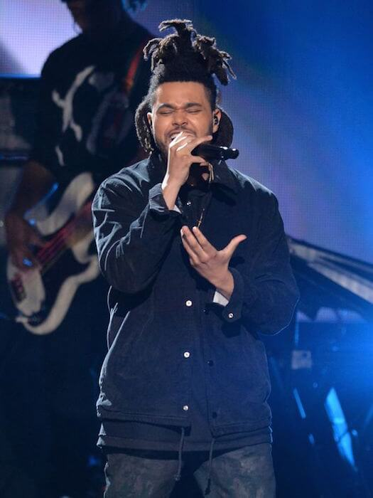 The Weeknd performing at the 2014 American Music Awards