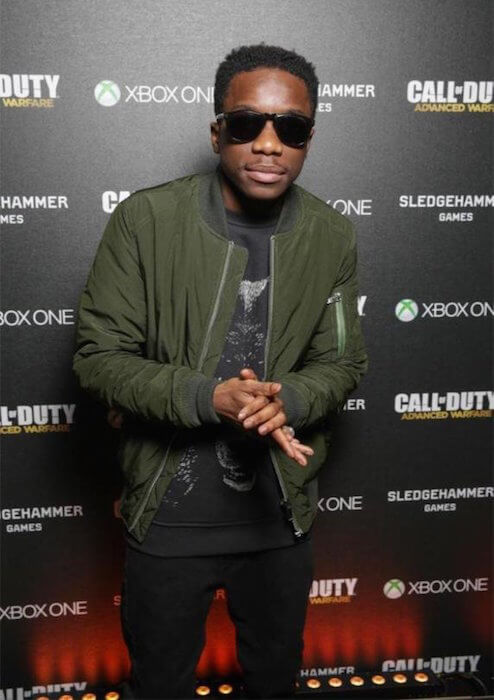 Tinchy Stryder at the Call of Duty Advanced Warfare Day Zero