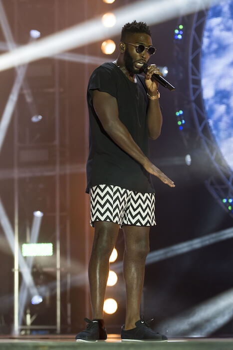 Tinie Tempah performing at MTV Crashes Plymouth in 2014