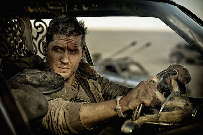 Tom Hardy in a still from Mad Max: Fury Road (2015)