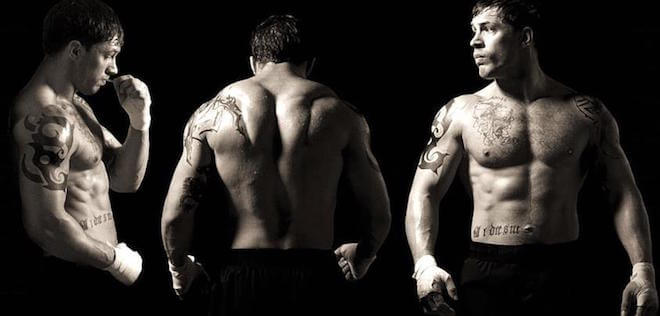 "Tom Hardy buffed for ""Warrior"""