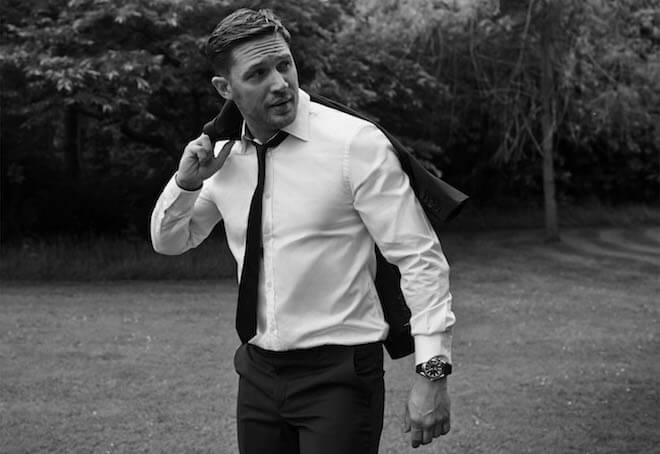 Tom Hardy looks dapper