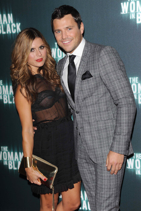Zoe Hardman and Mark Wright attends the 'The Woman In Black' World Premiere on January 24, 2012