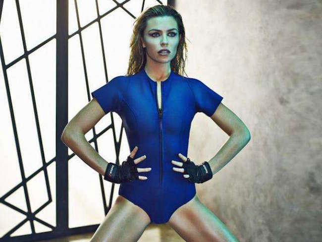 Abbey Clancy posing for Women's Health magazine