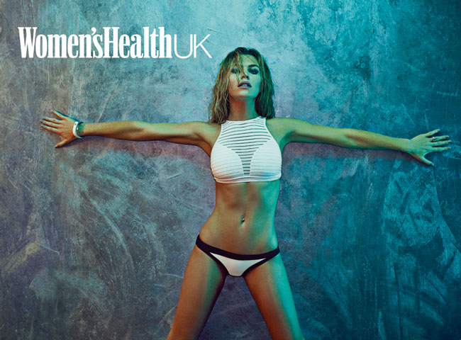 Abbey Clancy posing for Women's Health