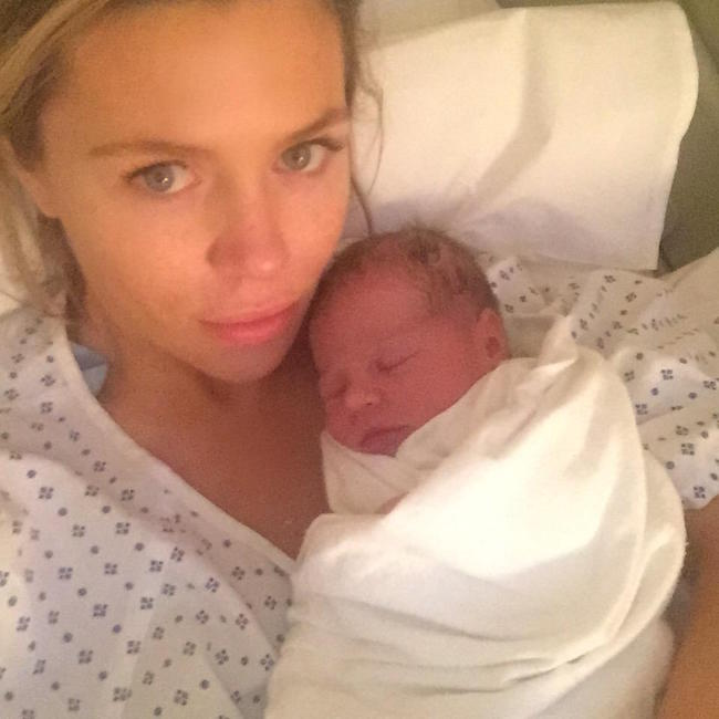 Abbey Clancy with her 2nd daughter, Liberty Rose.