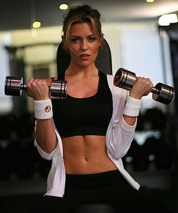 Abbey Clancy working out