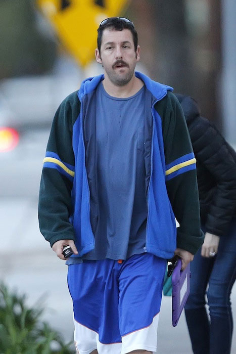 Adam Sandler in mustache