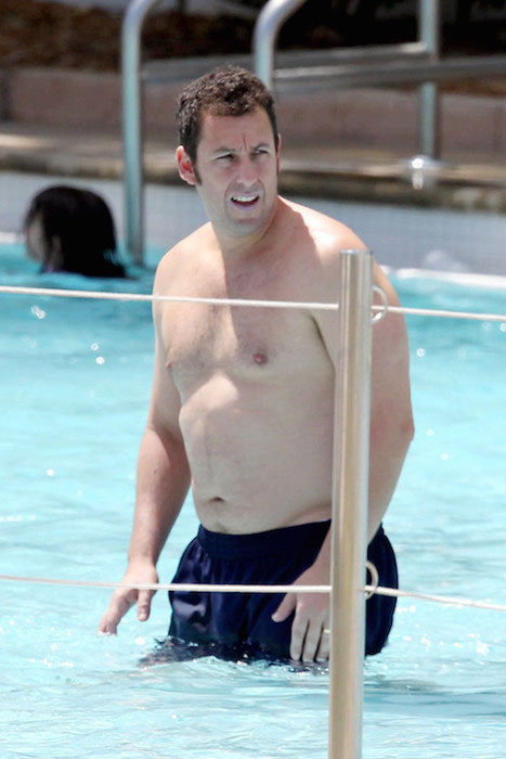 Adam Sandler shirtless body