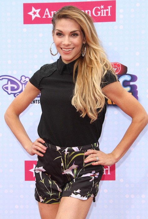 Allison Holker at 2015 Radio Disney Music Awards