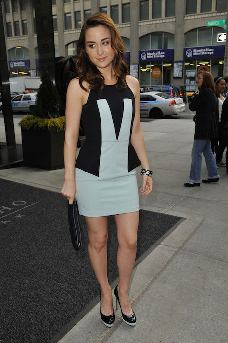 Allison Scagliotti leaving her hotel in New York City