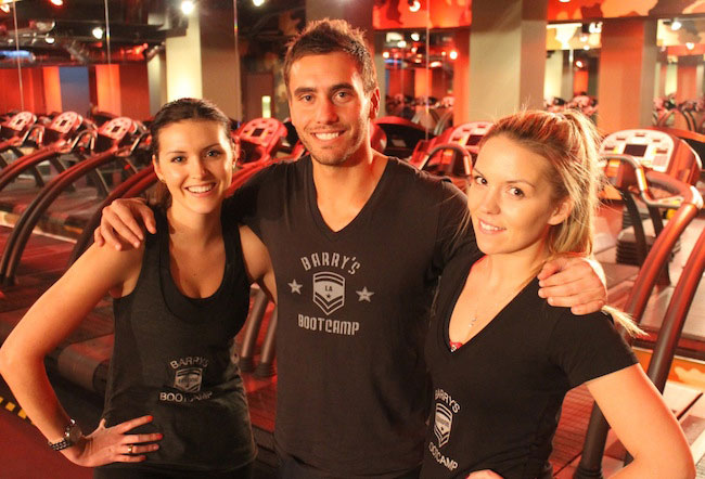 Barry's Bootcamp founder, Derek Degrazio with Joey Gonzalez and Noah Neiman