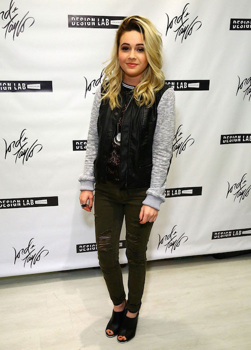 Bea Miller at Lord & Taylor launch of Design Lab in March 2015