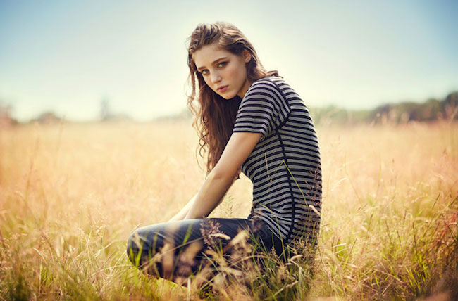 Birdy posing during a photoshoot for Creem Magazine