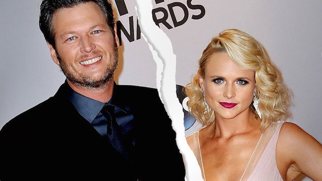 Blake Shelton and Miranda Lambert are divorced