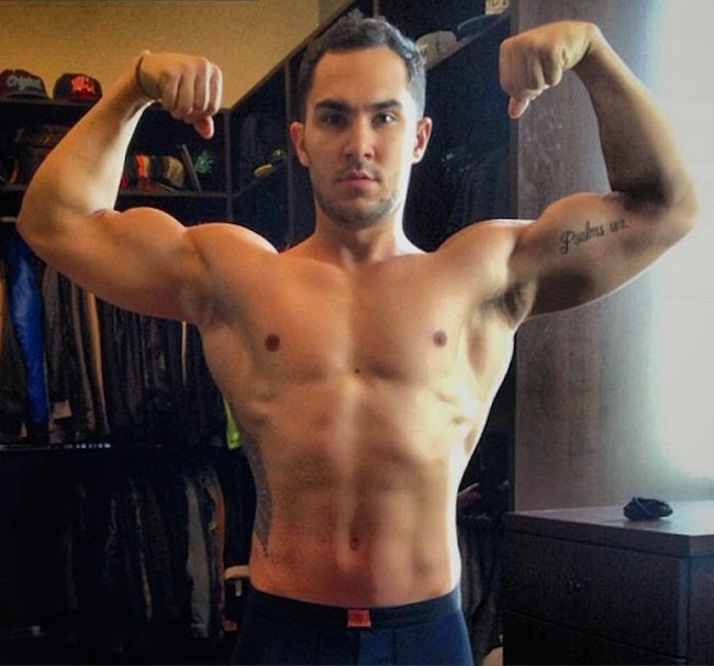 Carlos Pena, Jr. shirtless body