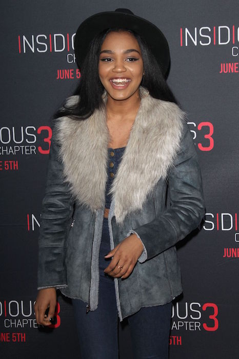 China Anne McClain at Insidious Chapter 3 premiere in Hollywood